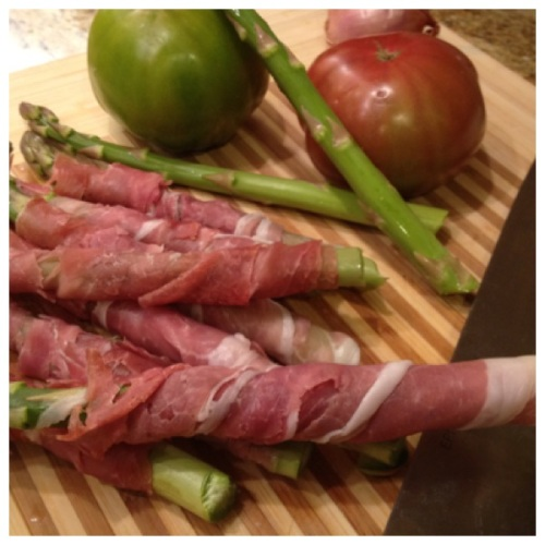 Tomatoes, Asparagus, & Proscuitto