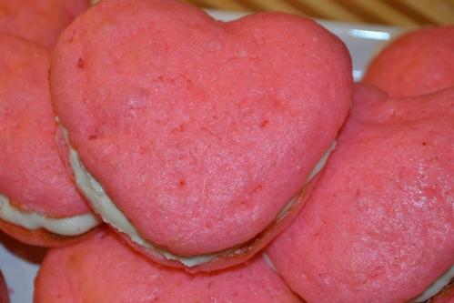 Valentine Heart Whoopie Pies