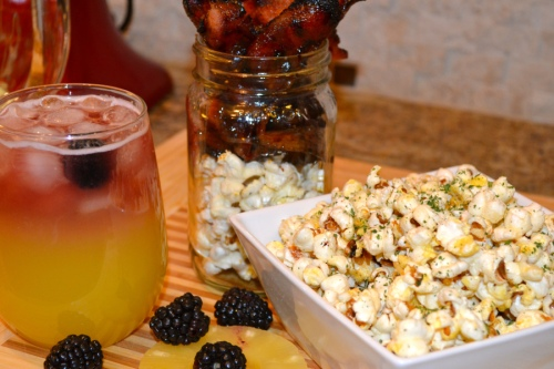 Truffle Popcorn, Candied Bacon, & Tequila Sangria