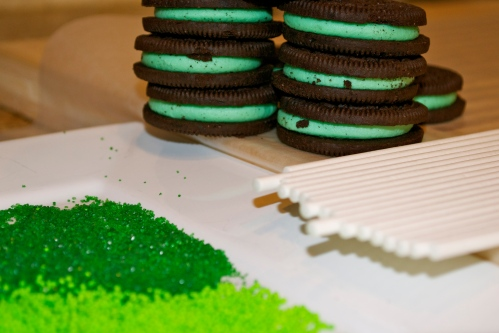 Mint Oreo Cookie Pop Prep