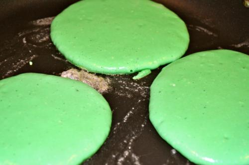 St. Patricks Day Pancakes
